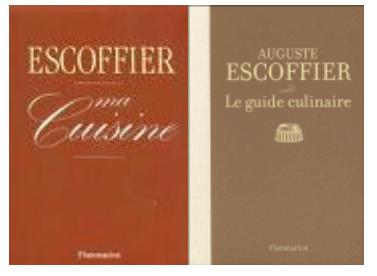 Cozinha francesa livros de cozinha importantes para for Auguste escoffier ma cuisine